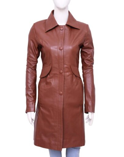 Donna Noble Doctor Who Catherine Tate Brown Leather Trench Coat