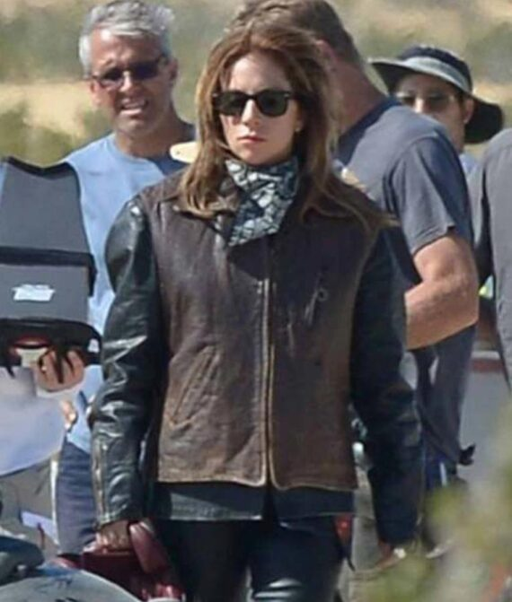 A Star Is Born Ally Lady Gaga Brown Leather Vest