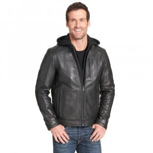 Mens Thinsulate Cycle Leather Jacket