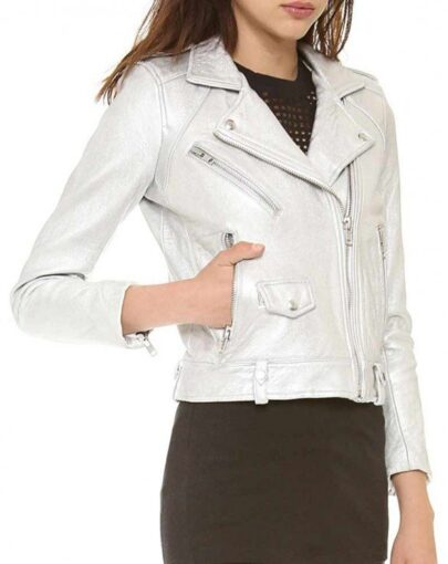 Arrow Sliver Willa Holland Motorcycle Leather Jacket