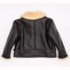 Navy Leather Shearling Jacket