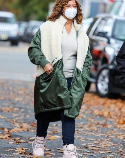Robyn Mccall The Equalizer 2021 Shearling Coat